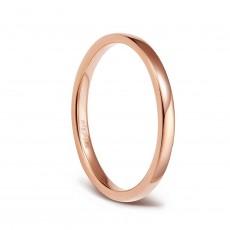 Rose Gold Titanium Engagement Bands Plain Thin Rings 2mm