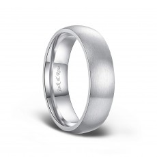 Dome Brushed Titanium Rings for Men 6mm 8mm