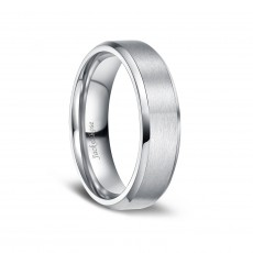 Brushed Matte Finish Titanium Wedding Engagement Rings for Men Women