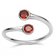925 Sterling Silver December Birthstone Rings - Gamet
