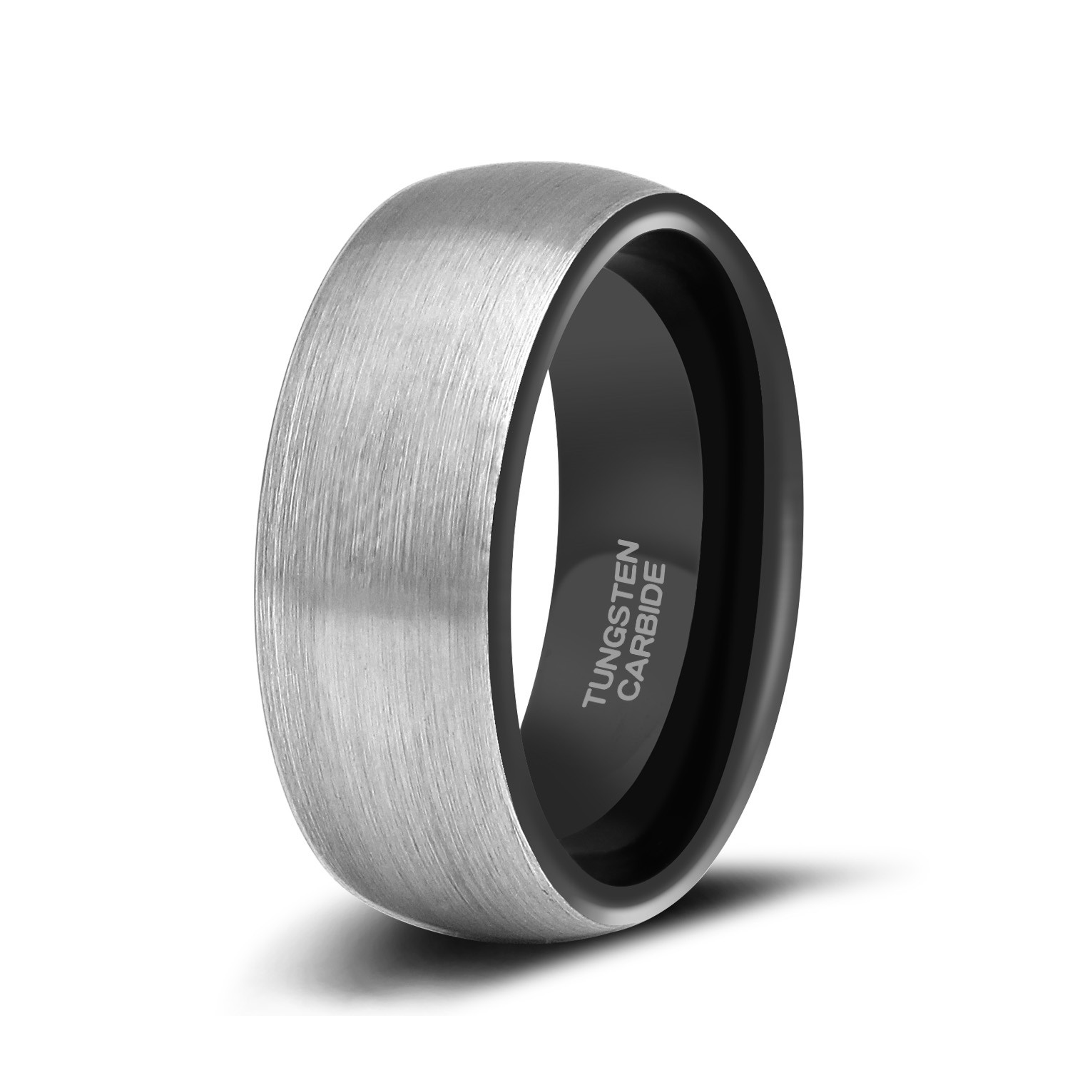Black And Silver Tungsten Rings3: Black Metal Wedding Bands At Reisefeber.org