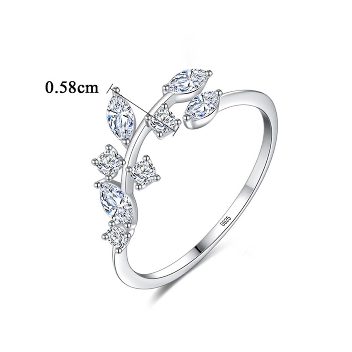 Cz Engagement Rings Vine Leaves Design