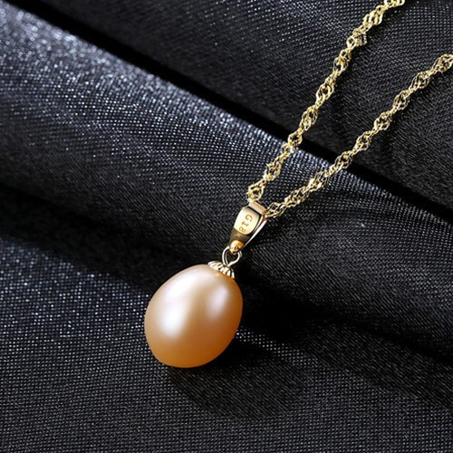 Womens White gold filled silver long necklace Fit Pearl pendant 19.6''