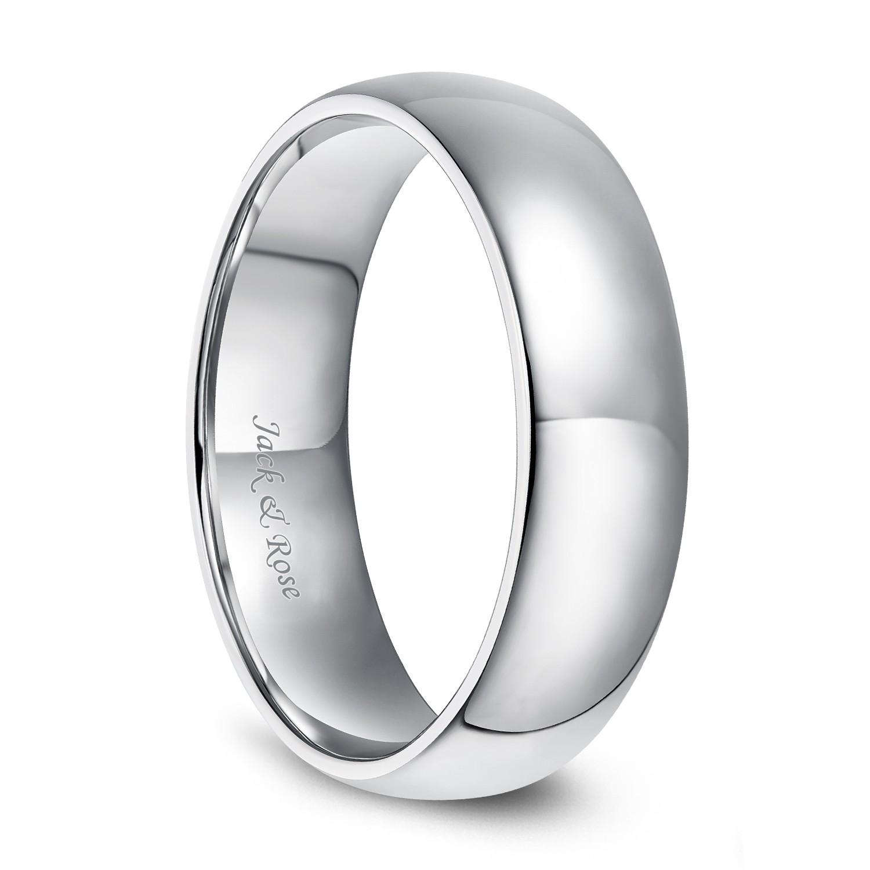 Men Women Sterling Silver Wedding Ring Classic Domed Plain Wedding Band 2MM