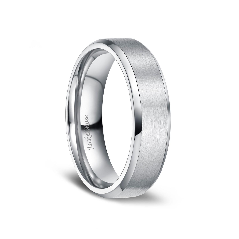 Brushed Matte Finish Titanium Wedding Engagement Rings For Men Women