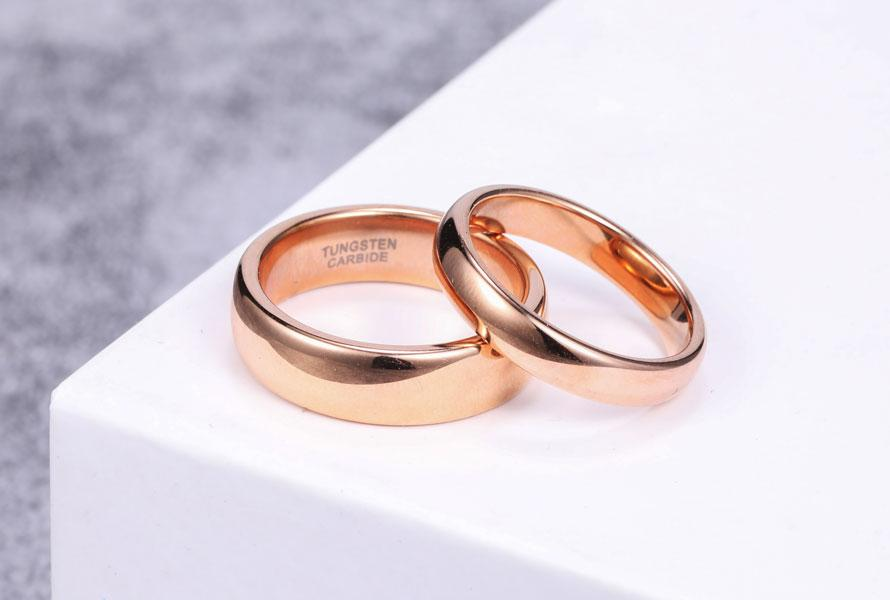 Rose Gold Wedding Rings Under 90 Dollars